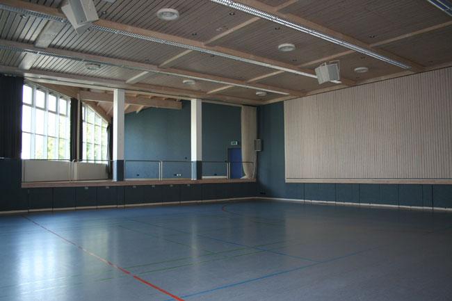 Innenaufnahme Halle Unterlauchringen