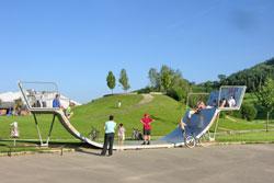 Fun-Arena und Skaterplatz