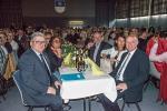 Bürgermeister von Saint Pierre de Chandieu Raphaël Ibanez und Bürgermeister Schäuble am Abend des Festes in der Gemeindehalle Unterlauchringen