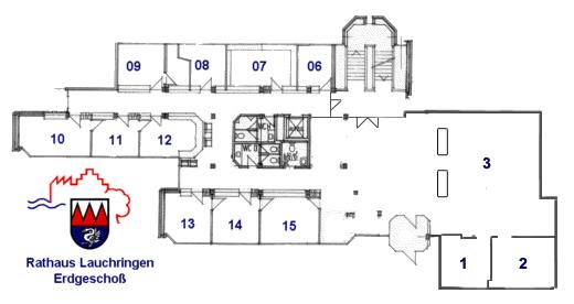 Das Erdgescho� des Rathauses