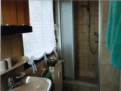 Ferienwohnungen Burgblick - Dusche 1 OG