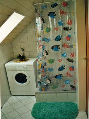 Ferienwohnungen Burgblick - Dusche im DG