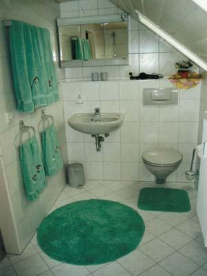Ferienwohnungen Burgblick - WC im DG