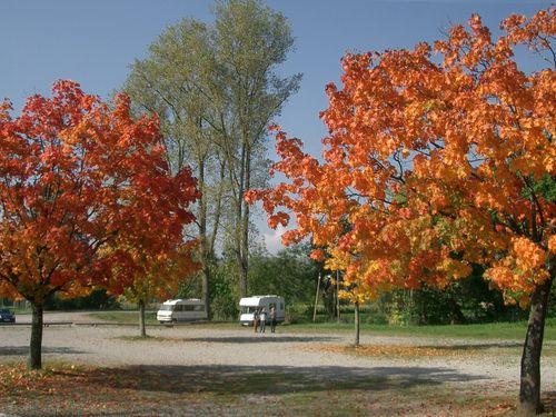 Wohnmobilstellplatz an der Wutach - Standplatz im Herbst
