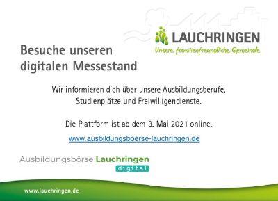 Rechts oben ist das Logo der Gemeinde Lauchringen zu sehen, dann der Text