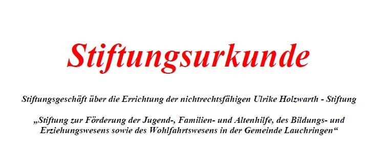 Ulrike-Holzwarth-Stiftung