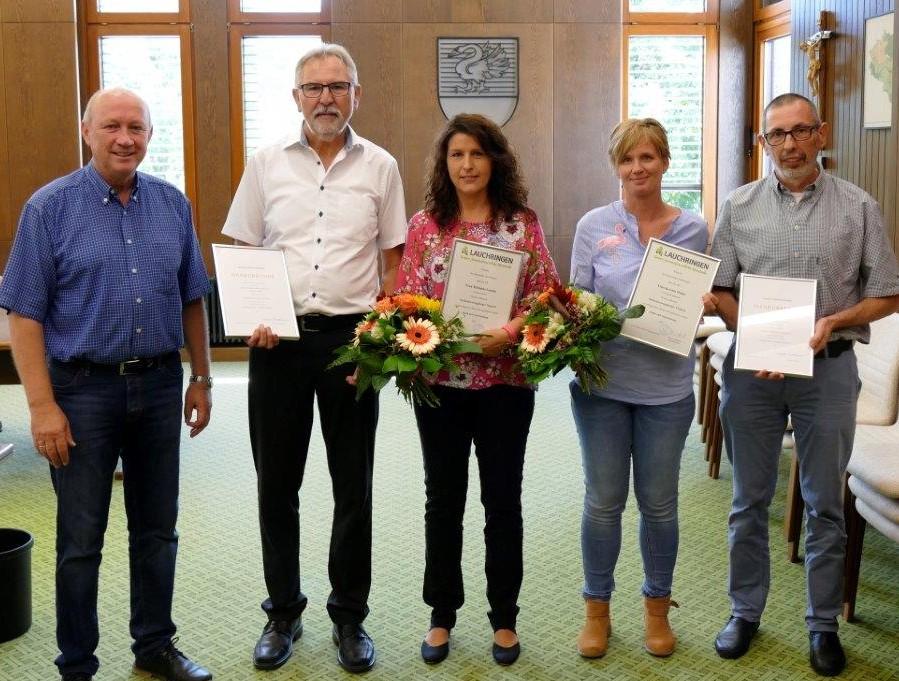 Dienstjubiläen im Rathaus Lauchringen