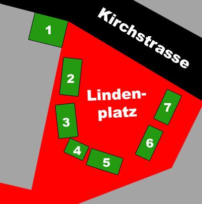 Lageplan des Marktplatzes